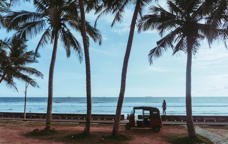 Beach views from the Tuk Tuk we rented in Sri Lanka