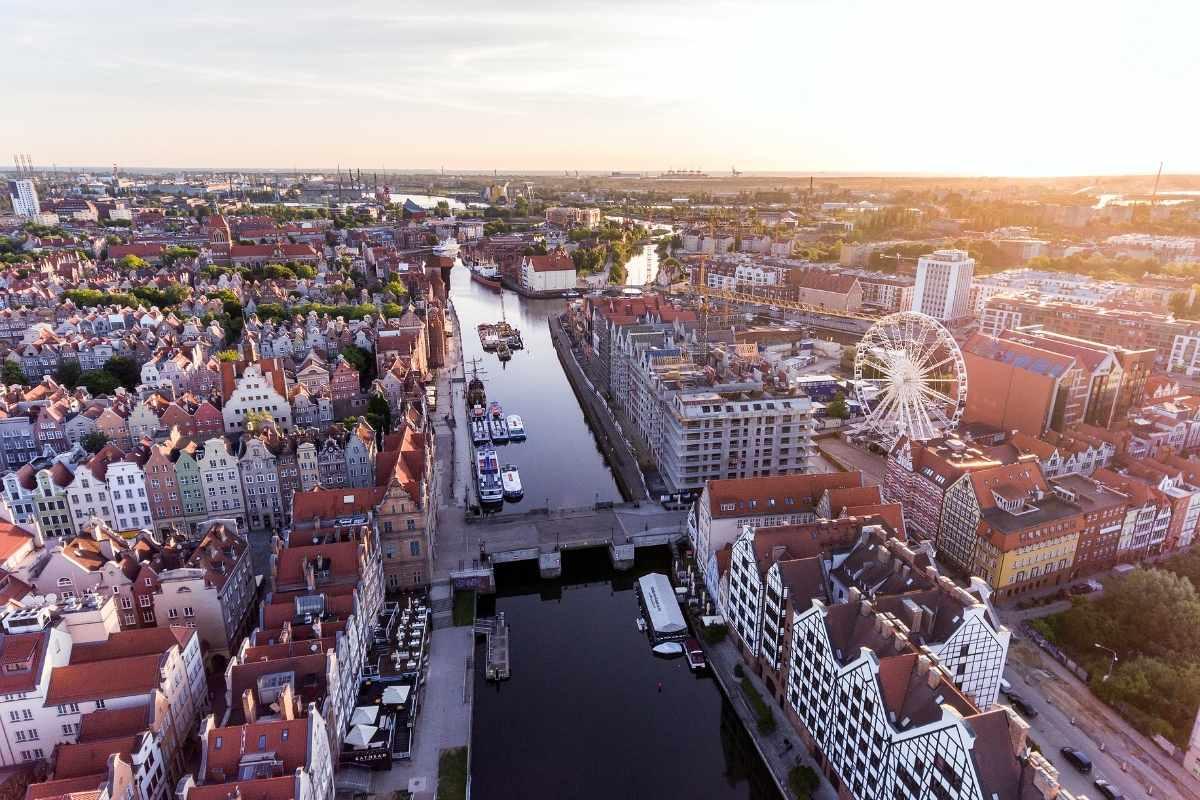 drone shot gdansk poland travel guide 55secrets
